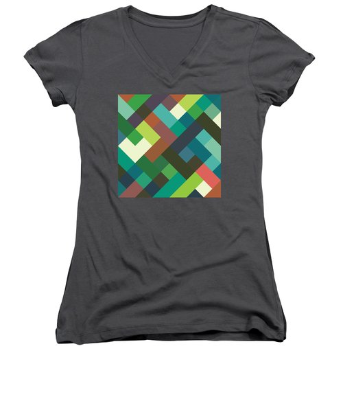 Pixel Art Women's V-Neck (Athletic Fit)