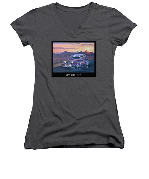 '39 Chevy Women's V-Neck T-Shirt