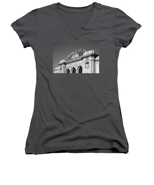 Denver - Union Station Women's V-Neck T-Shirt