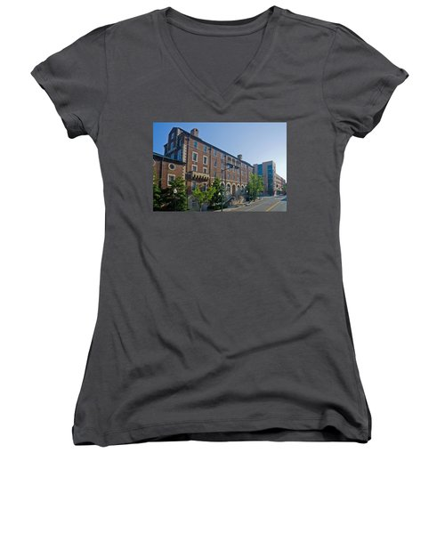 Downtown Knoxville Women's V-Neck T-Shirt (Junior Cut) by Melinda Fawver