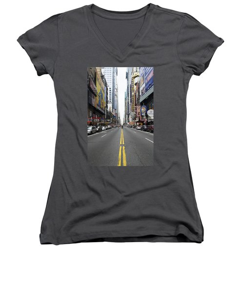 42nd Street - New York Women's V-Neck T-Shirt