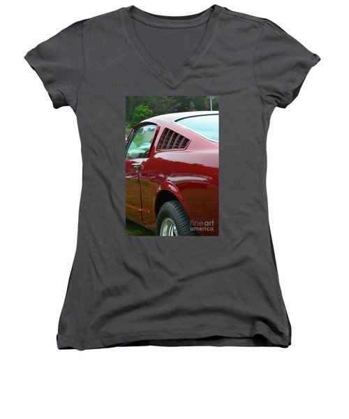 Classic Mustang Women's V-Neck (Athletic Fit)