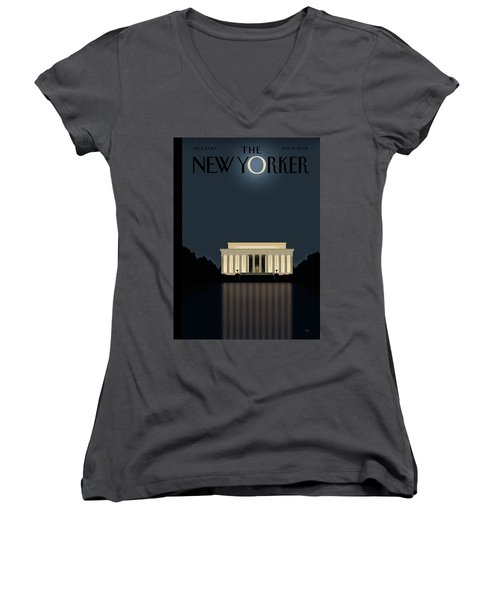 New Yorker November 17th, 2008 Women's V-Neck T-Shirt