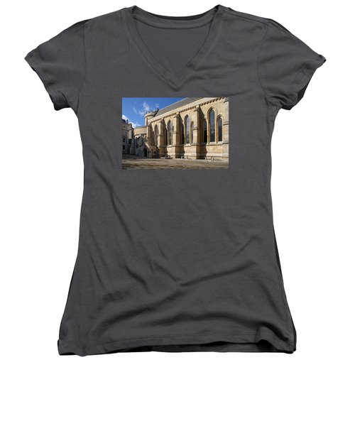 Knights Templar Temple In London Women's V-Neck T-Shirt