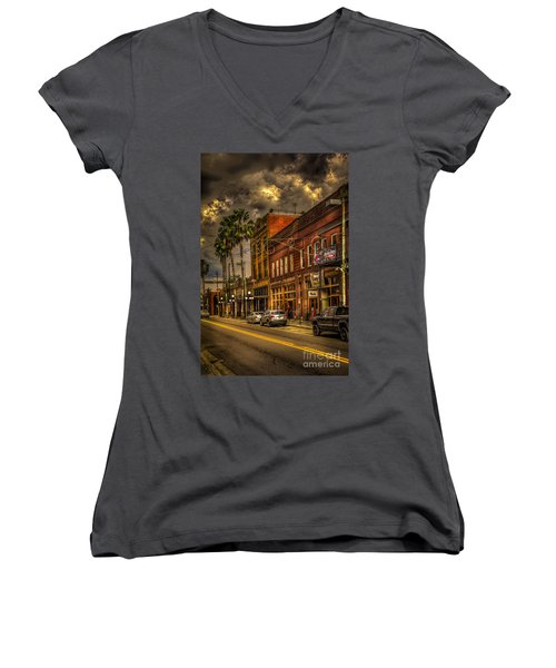 7th Avenue Women's V-Neck T-Shirt (Junior Cut) by Marvin Spates