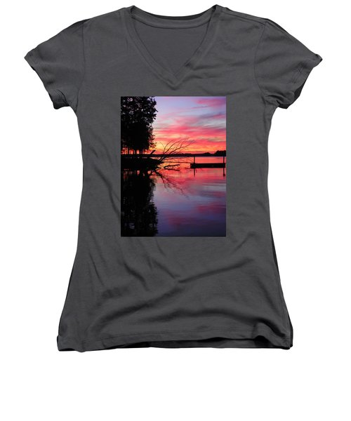 Sunset 9 Women's V-Neck T-Shirt