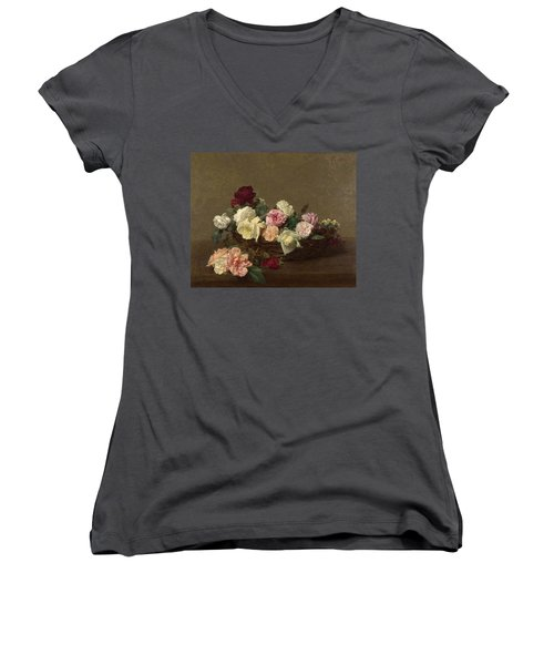 A Basket Of Roses Women's V-Neck