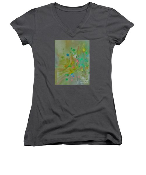 A Bird In Flight Women's V-Neck T-Shirt