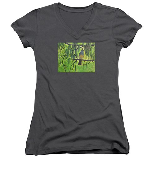 A Bird Looking At Me Women's V-Neck (Athletic Fit)