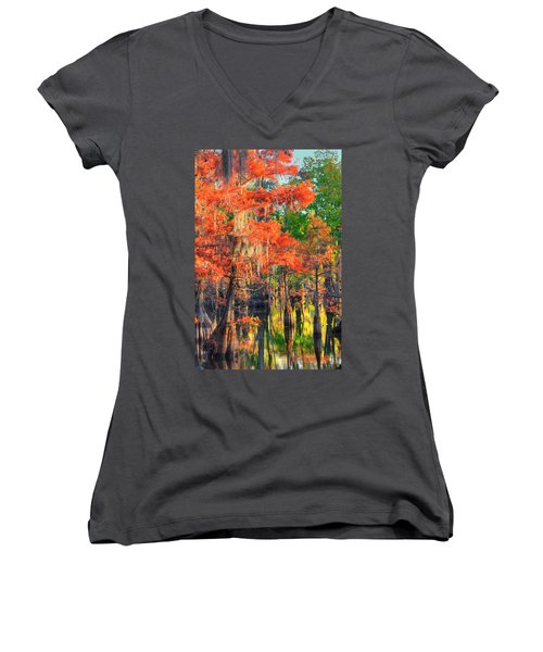 A Change Of Colors Women's V-Neck T-Shirt