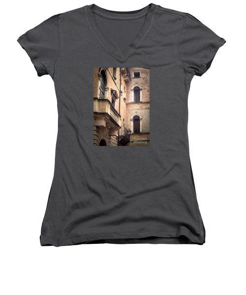 A Corner Of Vicenza Italy Women's V-Neck T-Shirt