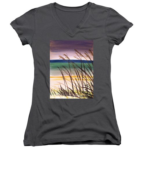 A Day At The Beach 2 Women's V-Neck T-Shirt
