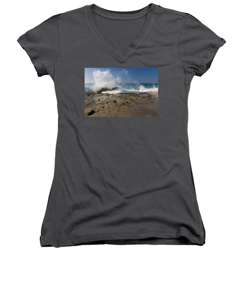 A Day Like Today Women's V-Neck T-Shirt (Junior Cut) by Heidi Smith