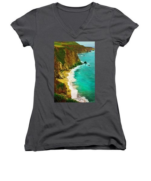 A Day On The Ocean Women's V-Neck