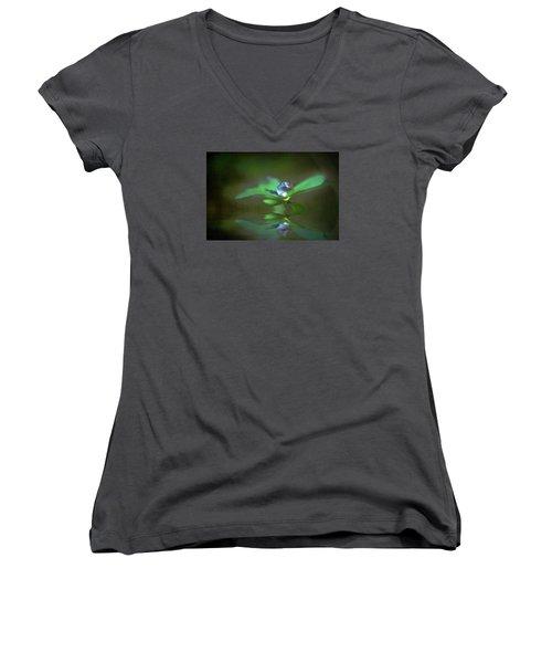 A Dream Of Green Women's V-Neck T-Shirt (Junior Cut) by Kym Clarke