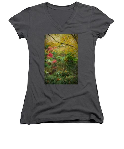 A Fall Afternoon Women's V-Neck