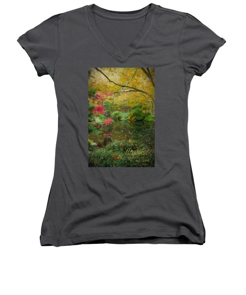 A Fall Afternoon With Message Women's V-Neck