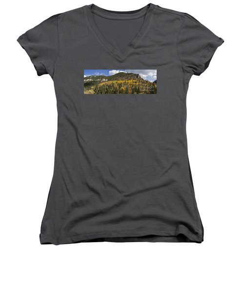 A Falls Day In Spearfish Canyon Of South Dakota Women's V-Neck T-Shirt