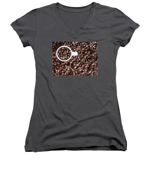 Women's V-Neck T-Shirt (Junior Cut) featuring the photograph A Familiar Blend by Aaron Aldrich