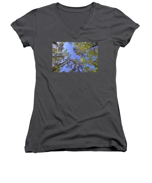 A Forest Sky Women's V-Neck T-Shirt