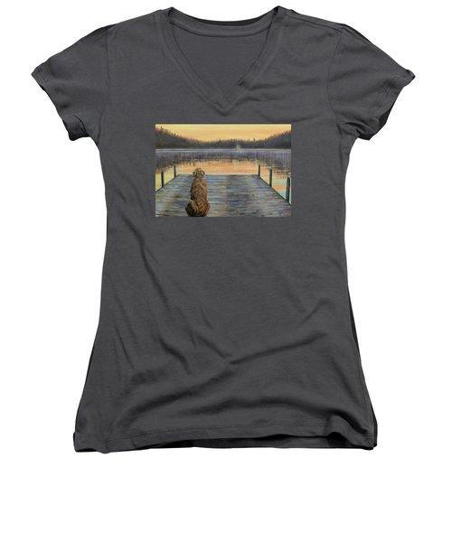 A Golden Moment Women's V-Neck T-Shirt (Junior Cut)