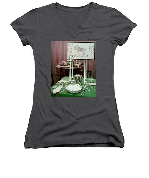 A Green Table Women's V-Neck