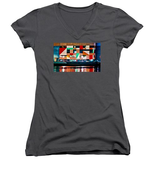A History Of The Harbor  Women's V-Neck T-Shirt