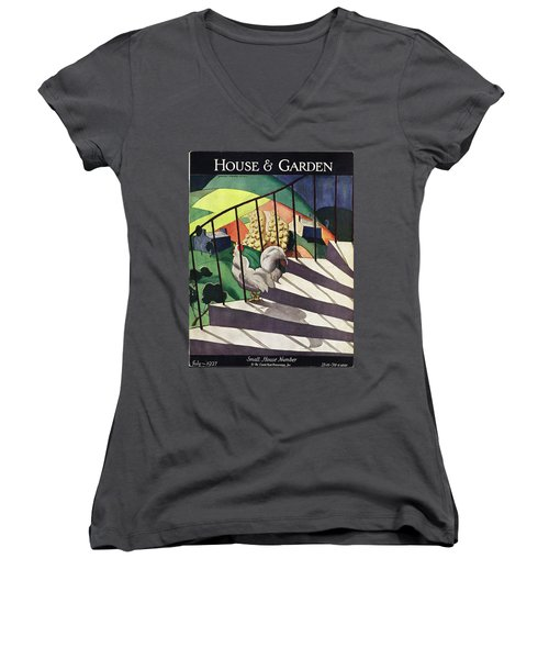 A House And Garden Cover Of A Rooster Women's V-Neck