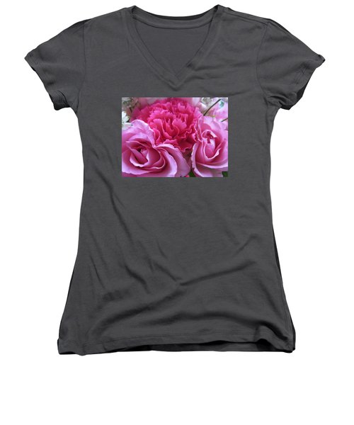 Happy Mothers Day/a Bundle Of Joy Women's V-Neck (Athletic Fit)