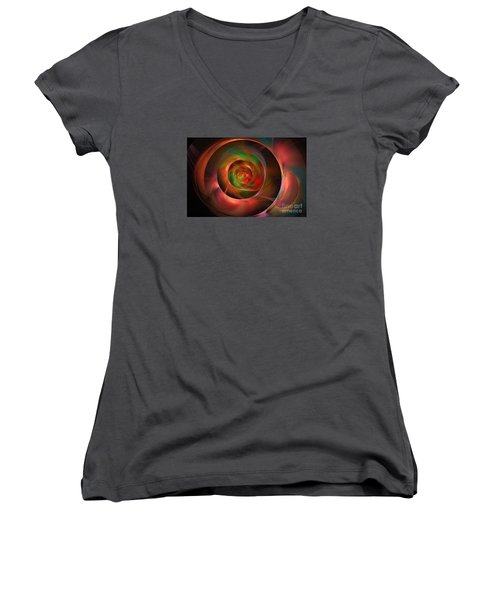 A Kind Of Inner Opalescence Women's V-Neck (Athletic Fit)