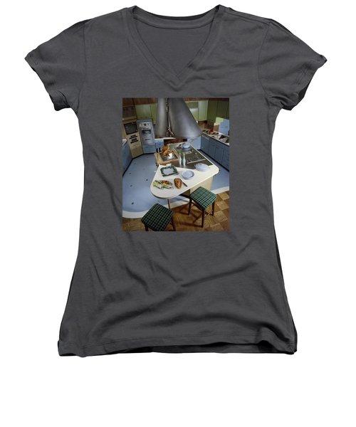 A Kitchen Designed By Ralph & Jane Bonnell Women's V-Neck