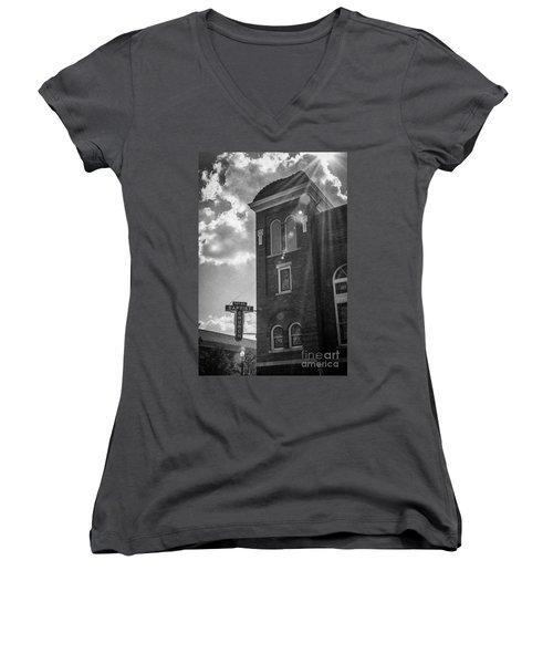A Light Shines Down Women's V-Neck