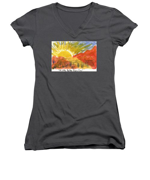 A Little Better Every Day Women's V-Neck T-Shirt