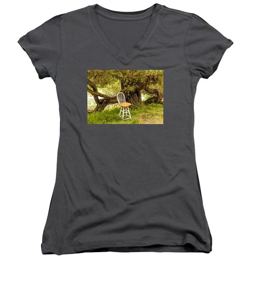 A Little Solitude Women's V-Neck (Athletic Fit)