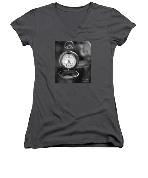 A Moment In Time Women's V-Neck T-Shirt (Junior Cut) by Nina Silver