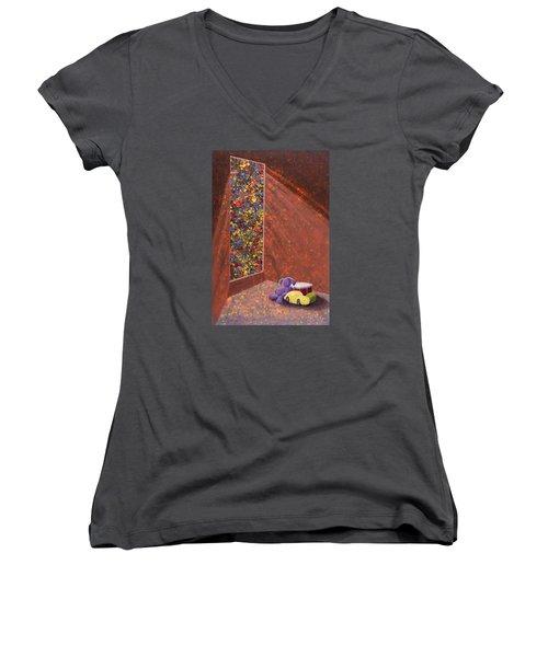 A Mother's Hope Women's V-Neck T-Shirt (Junior Cut) by Jack Malloch