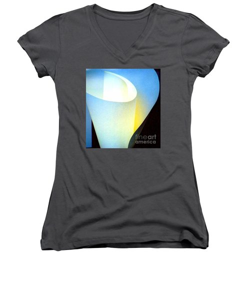 Women's V-Neck T-Shirt (Junior Cut) featuring the photograph A Shade Of Illumination by Michael Hoard