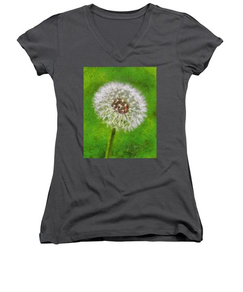 Women's V-Neck T-Shirt (Junior Cut) featuring the painting A Simple Beauty by Joe Misrasi