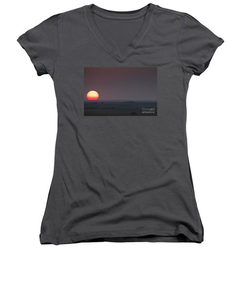 A Sun Like Mars Women's V-Neck T-Shirt