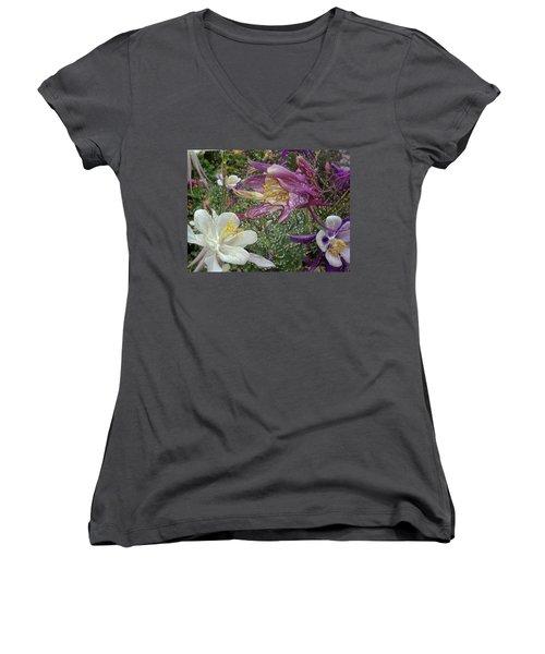 a taste of dew i do and PCC  garden too     GARDEN IN SPRING MAJOR Women's V-Neck T-Shirt