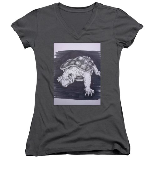 A Turtle Named Puppy Women's V-Neck T-Shirt