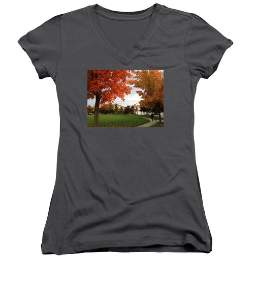 A Walk In The Park Women's V-Neck (Athletic Fit)