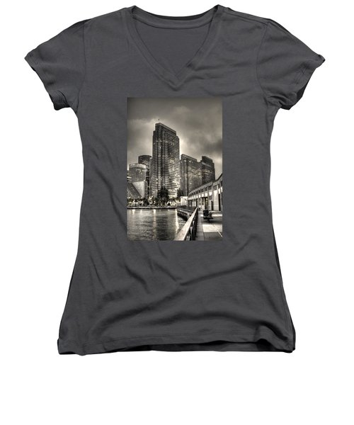 A Walk On The Embarcadero Waterfront Women's V-Neck