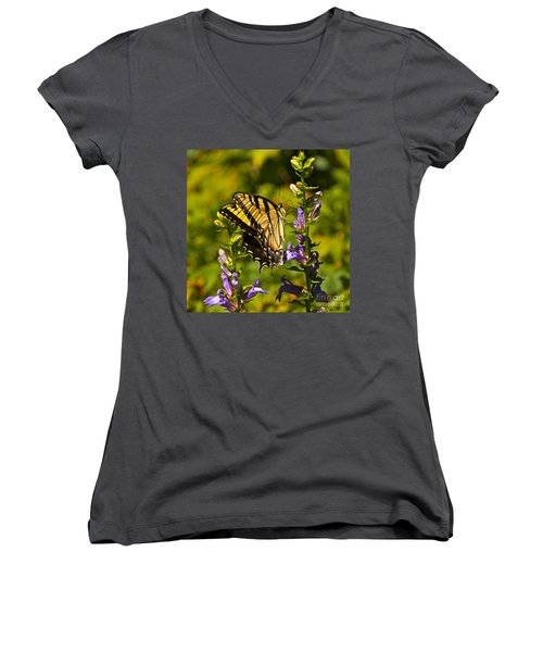 A Warm September Day In The Garden Women's V-Neck (Athletic Fit)