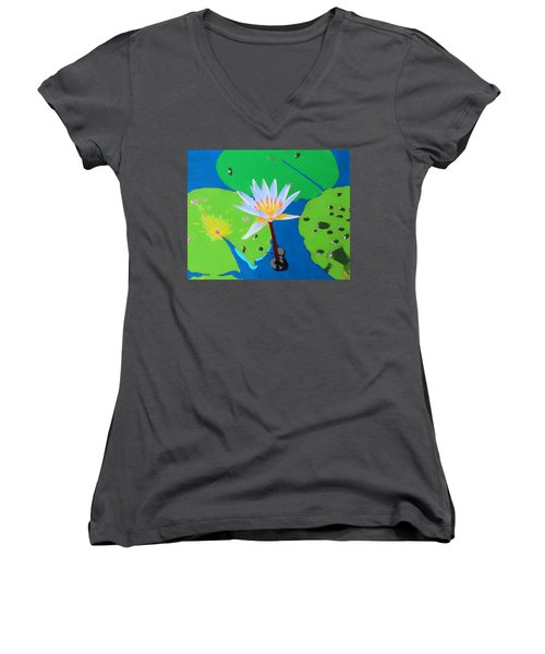 A Water Lily In Its Pad Women's V-Neck