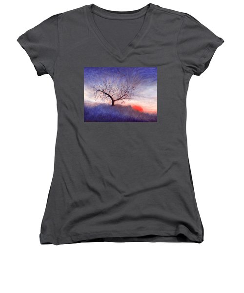 A Wintering Tree Women's V-Neck (Athletic Fit)