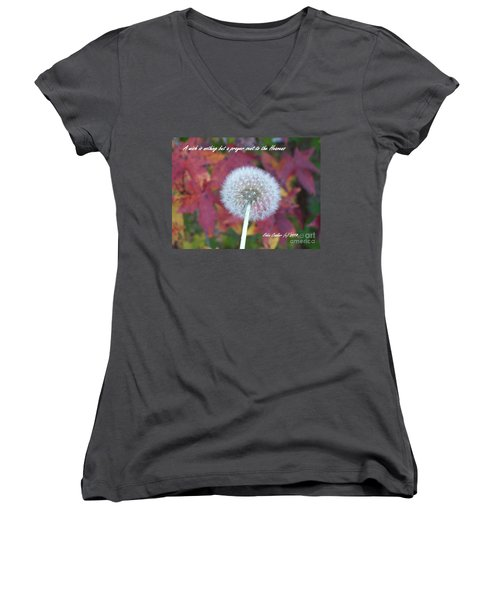 Women's V-Neck T-Shirt (Junior Cut) featuring the photograph A Wish For You by Robin Coaker
