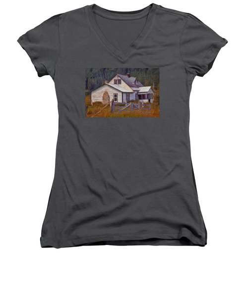Abandoned Farm House Women's V-Neck