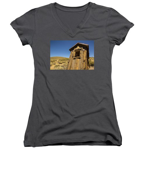 Abandoned Outhouse Women's V-Neck