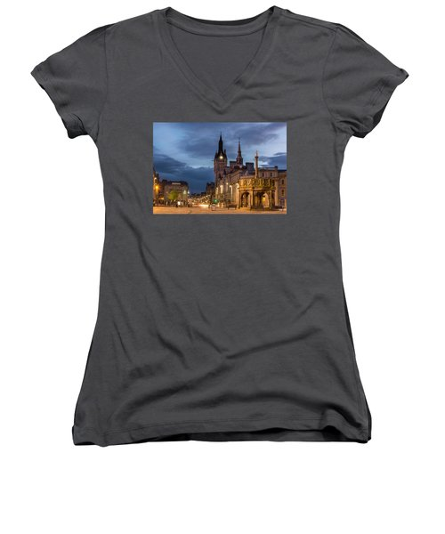 Aberdeen At Night Women's V-Neck T-Shirt